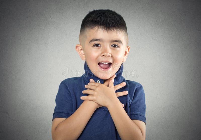 Criança surpreendida fotos de stock