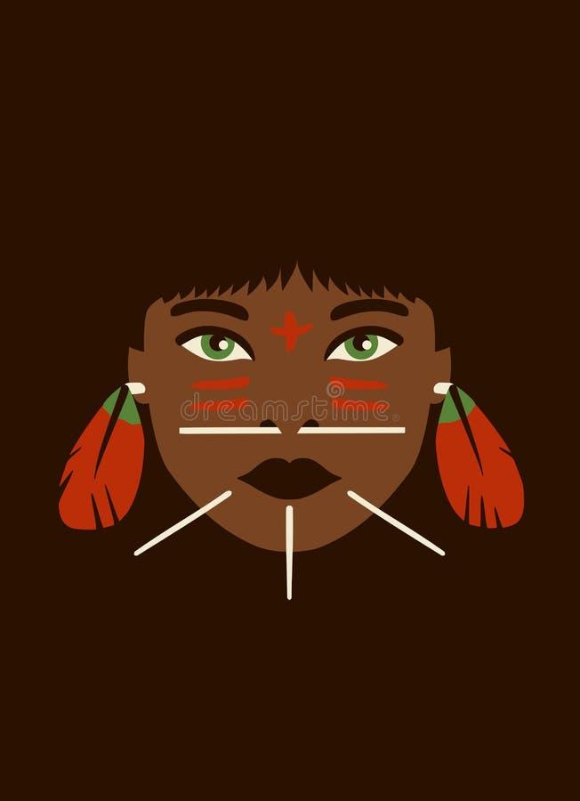 Criança tribal ilustração stock