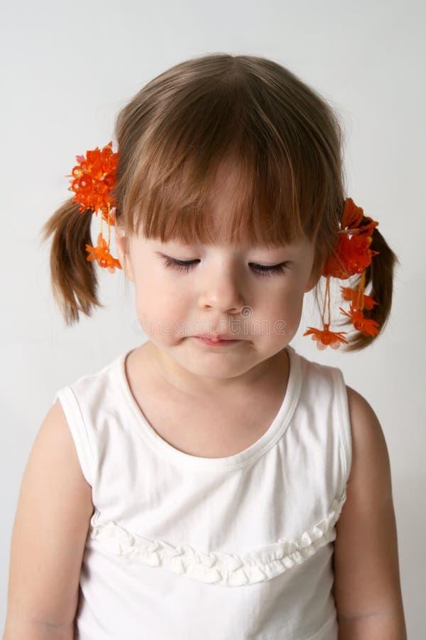 Criança triste imagem de stock royalty free