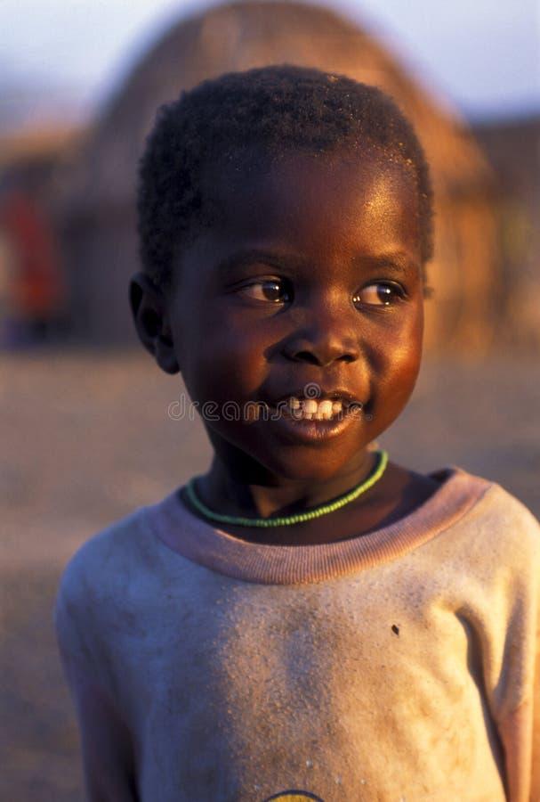 Criança Turkana (Kenya) fotos de stock royalty free
