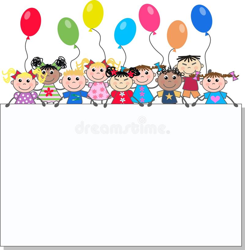 Crianças étnicas misturadas ilustração stock