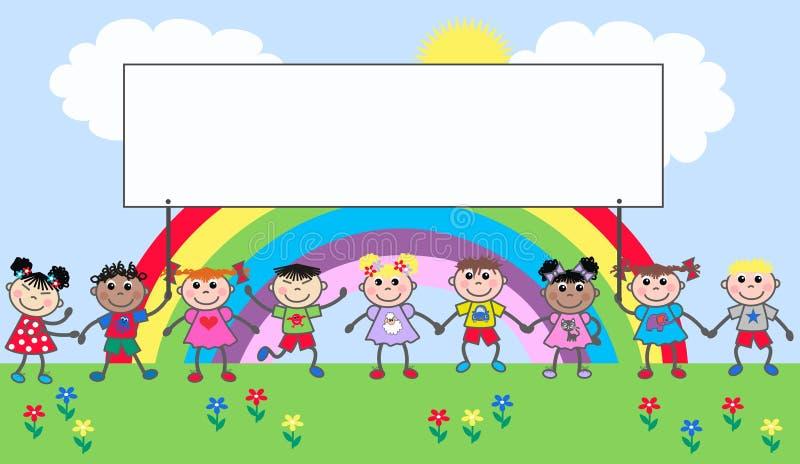 Crianças étnicas misturadas ilustração royalty free