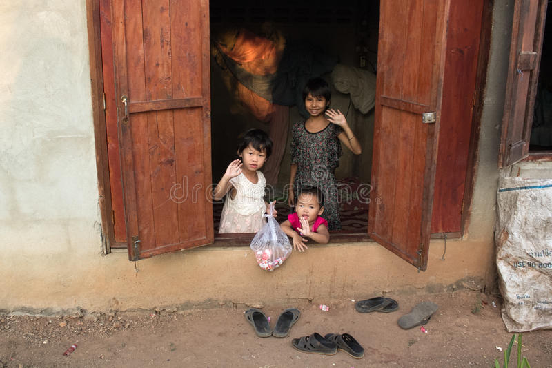 Crianças órfãos imagens de stock royalty free