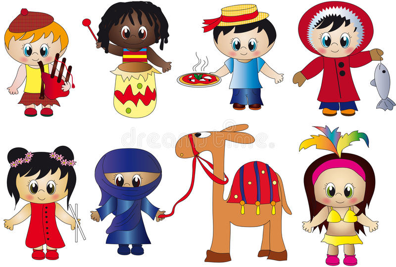 Crianças ilustração do vetor