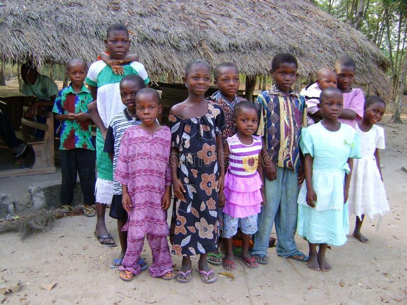 Crianças africanas - Ghana fotos de stock royalty free