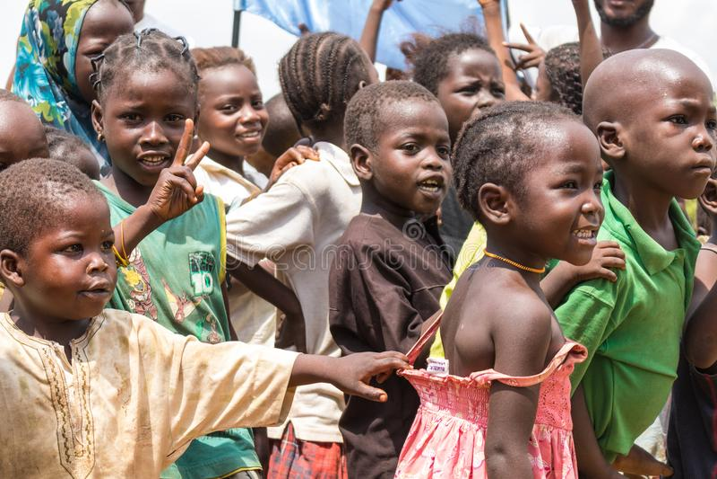 Crianças africanas rurais pobres 2 fotografia de stock