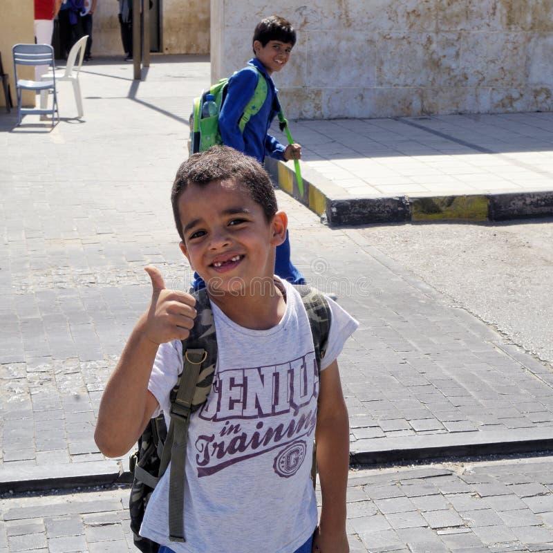 Crianças amigáveis em Amman, Jordânia fotos de stock royalty free