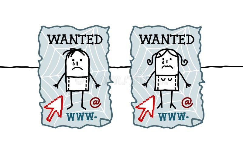 Crianças & cyberbullying ilustração do vetor