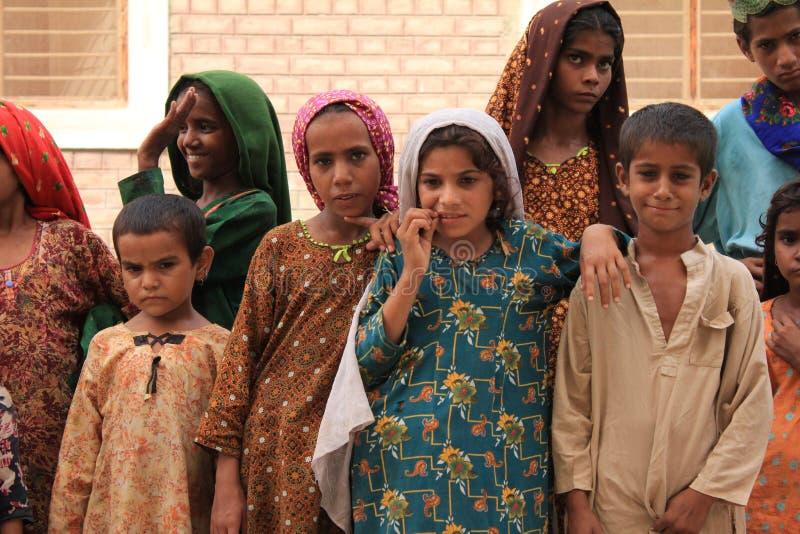 Crianças bonitos do refugiado em Paquistão fotos de stock royalty free
