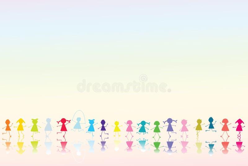 Crianças coloridas felizes ilustração royalty free