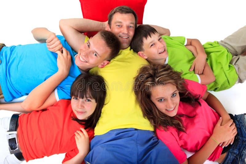 Crianças com pai imagens de stock royalty free