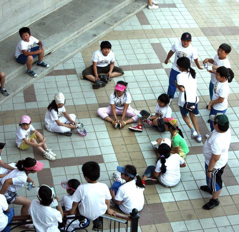 Crianças coreanas fotos de stock royalty free