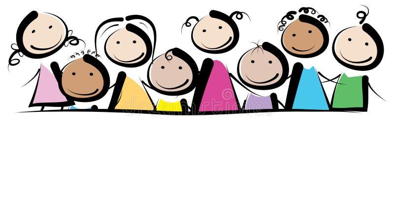 Crianças da bandeira ilustração stock