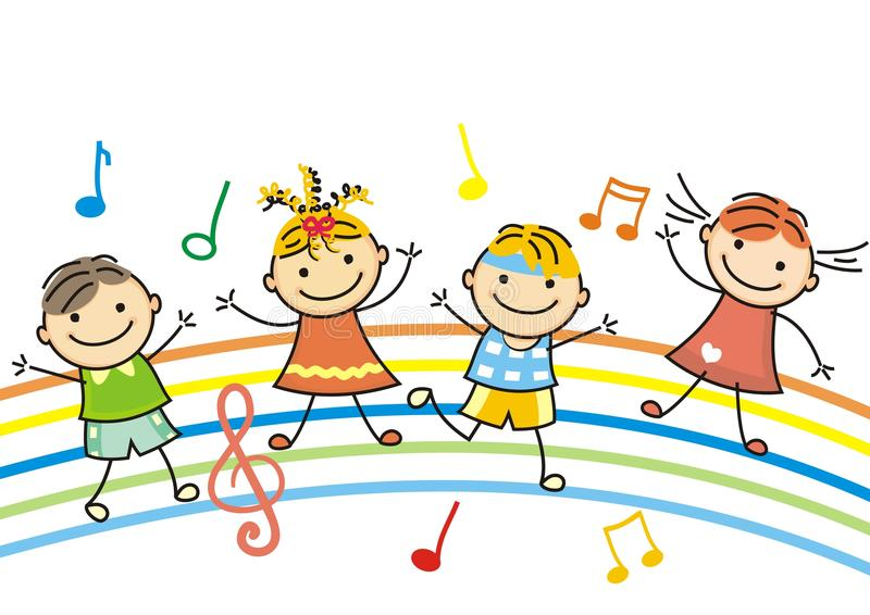 Crianças da dança ilustração royalty free