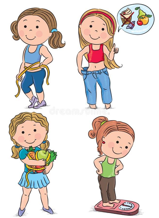 Crianças da dieta ilustração stock