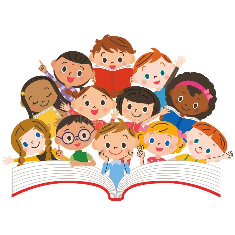 Crianças da leitura ilustração stock
