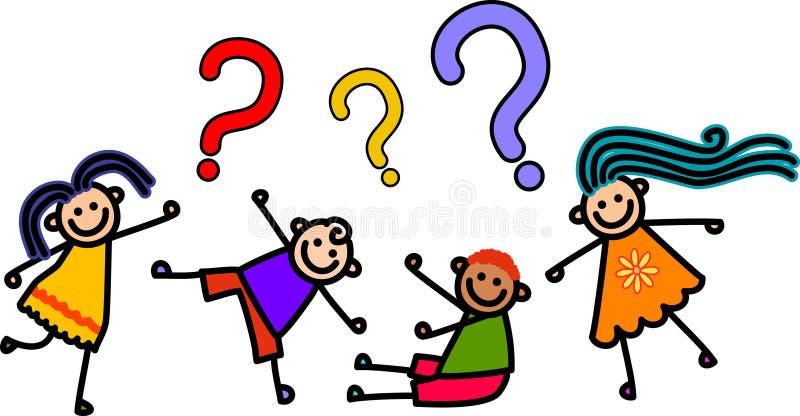 Crianças da pergunta ilustração stock