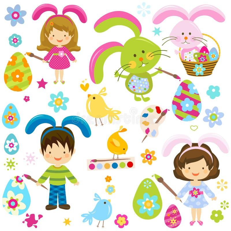 Crianças de Easter ilustração royalty free