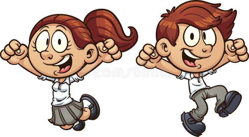 Crianças de salto ilustração royalty free