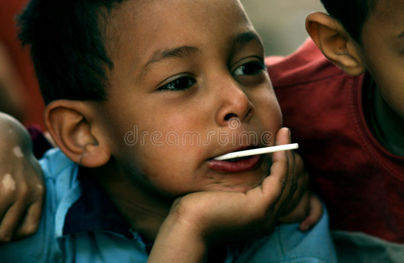 Crianças deficientes fotografia de stock