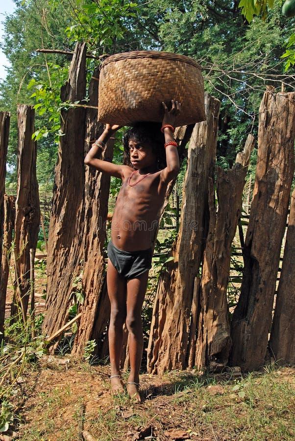 Crianças deficientes em India imagem de stock