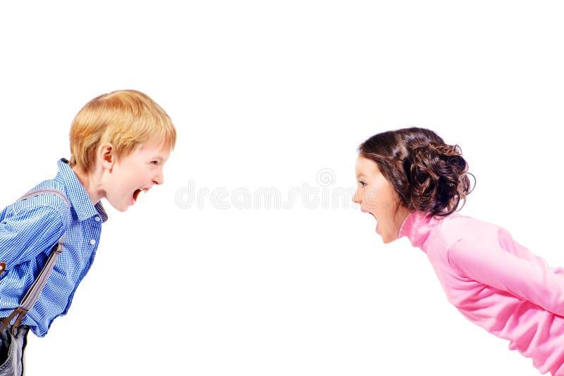 Crianças do grito imagens de stock royalty free