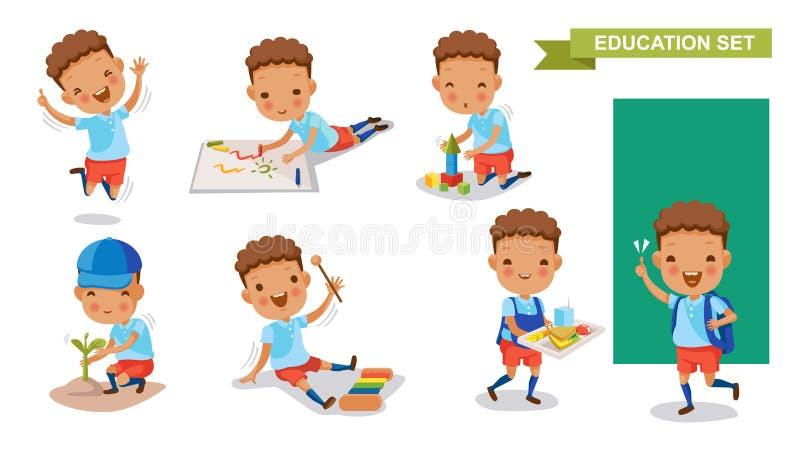 Crianças do jardim de infância ilustração royalty free