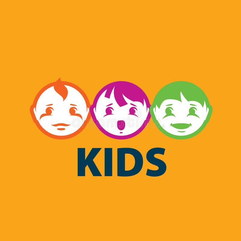 Crianças do logotipo do vetor ilustração do vetor