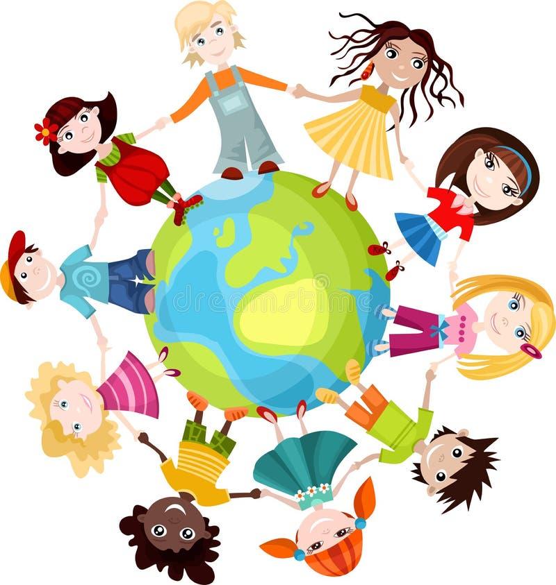 Crianças do mundo ilustração royalty free