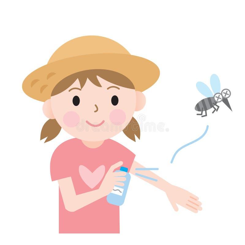 Crianças do repelente de insetos ilustração do vetor