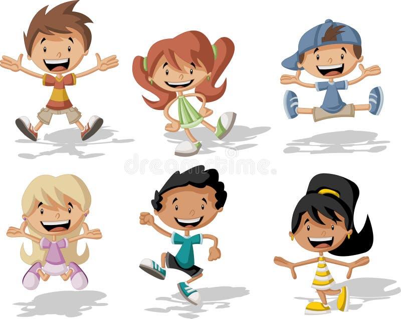 Crianças dos desenhos animados ilustração royalty free