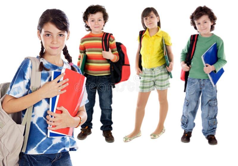 Crianças dos estudantes de Lovables foto de stock royalty free
