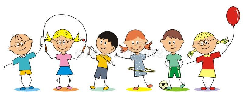Crianças e atividades do verão ilustração royalty free