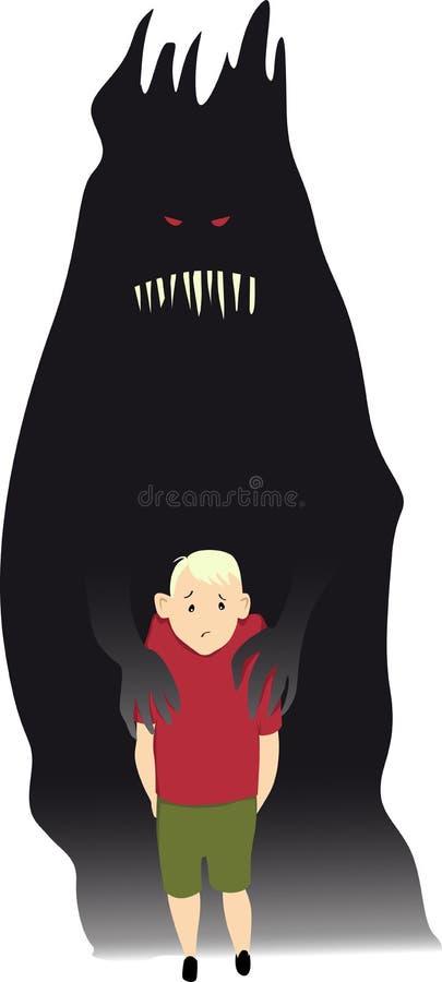 Crianças e saúde mental ilustração stock