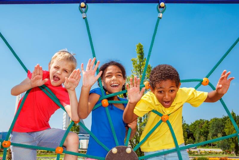 Crianças emocionais fotografia de stock royalty free