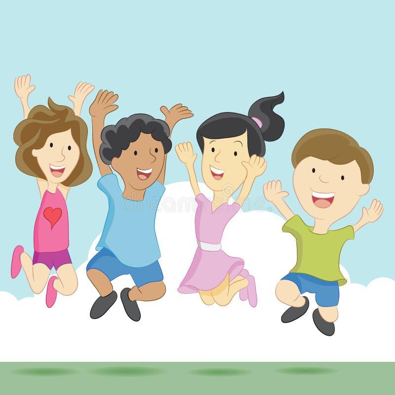 Crianças entusiasmado ilustração royalty free