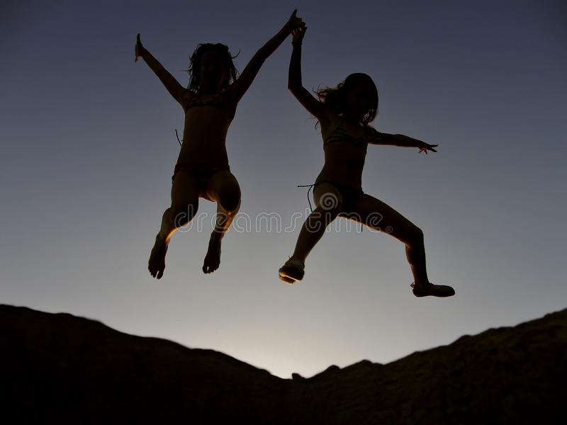 Crianças eufóricos 1 fotografia de stock
