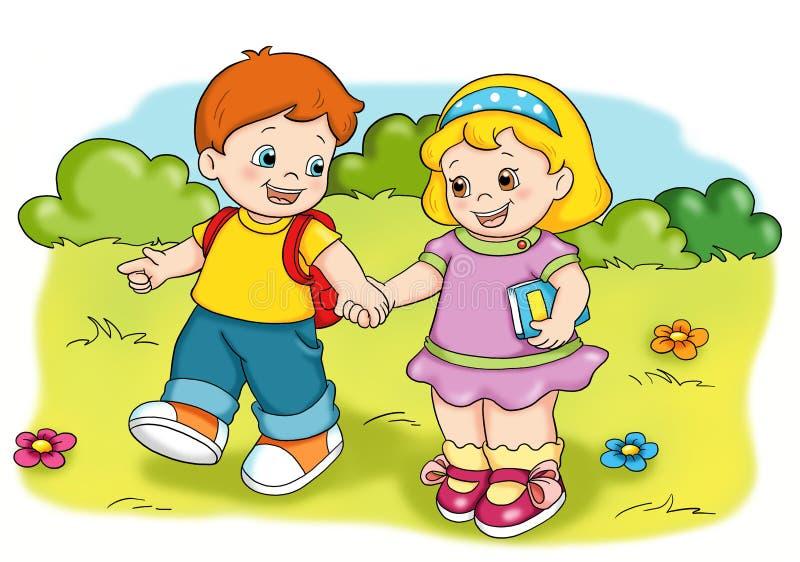 Crianças felizes ilustração stock