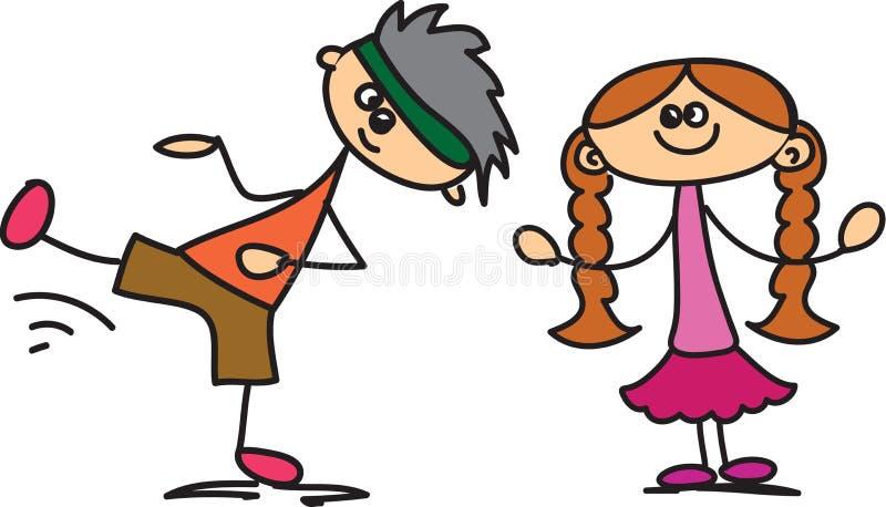 Crianças felizes bonitos ilustração royalty free