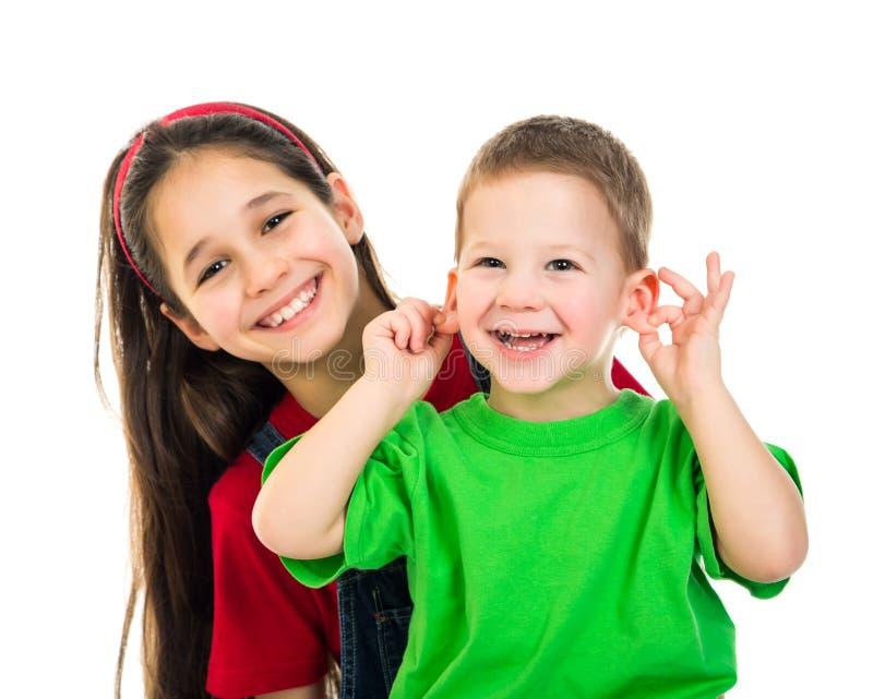 Crianças felizes junto fotografia de stock royalty free