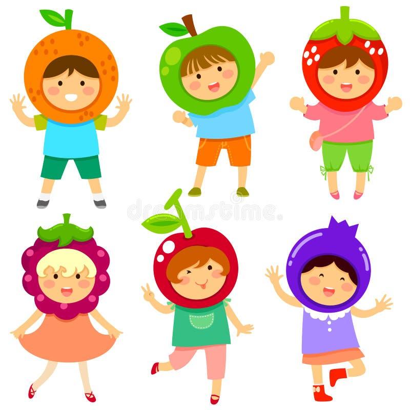 Crianças frutados ilustração royalty free