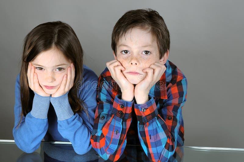 Crianças furadas fotografia de stock