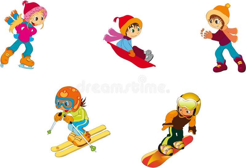 Crianças - inverno ilustração stock