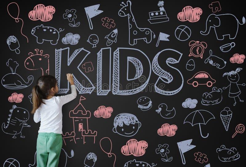 Crianças Joy Happy Child Concept das crianças fotos de stock