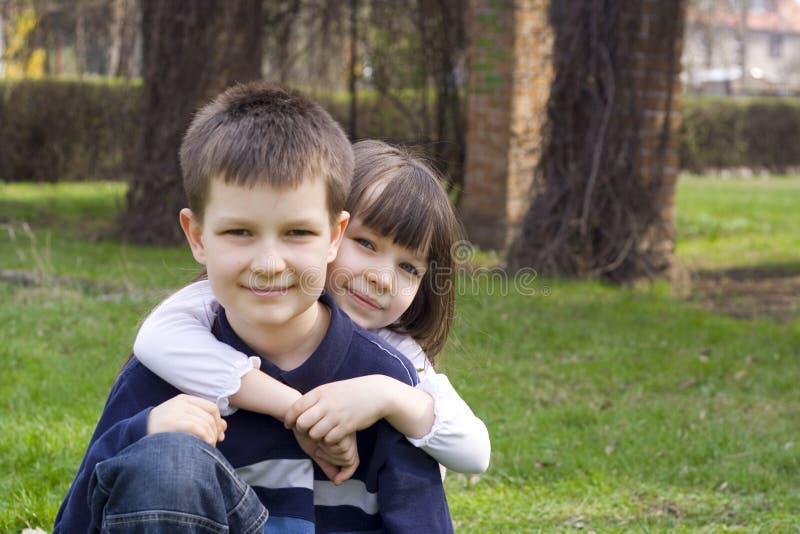 Crianças junto fotografia de stock royalty free