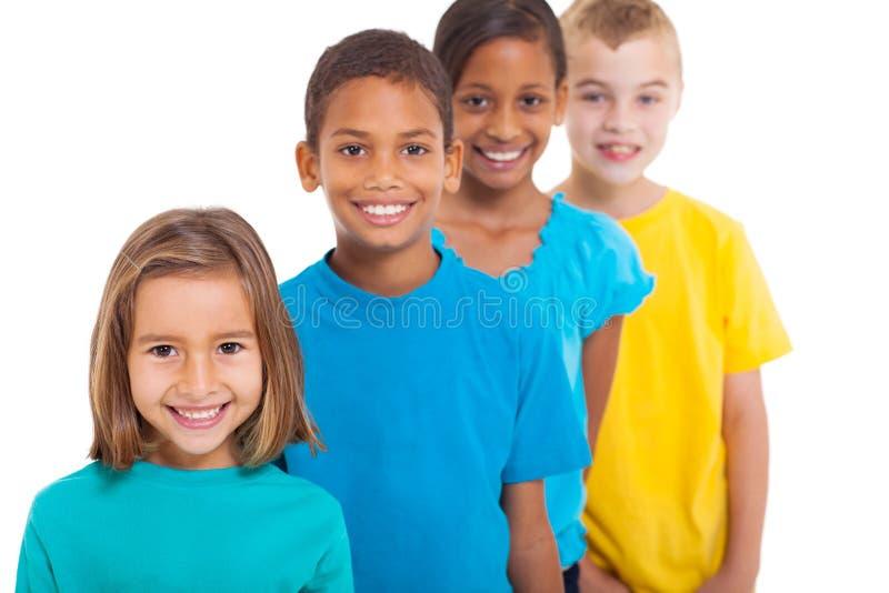 Crianças multirraciais do grupo foto de stock royalty free