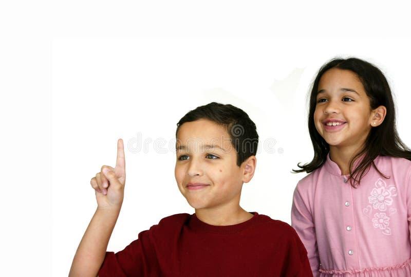 Crianças na escola foto de stock