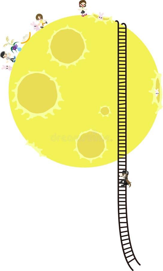 Crianças na lua imagens de stock royalty free