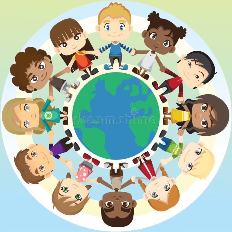 Crianças na unidade ilustração royalty free