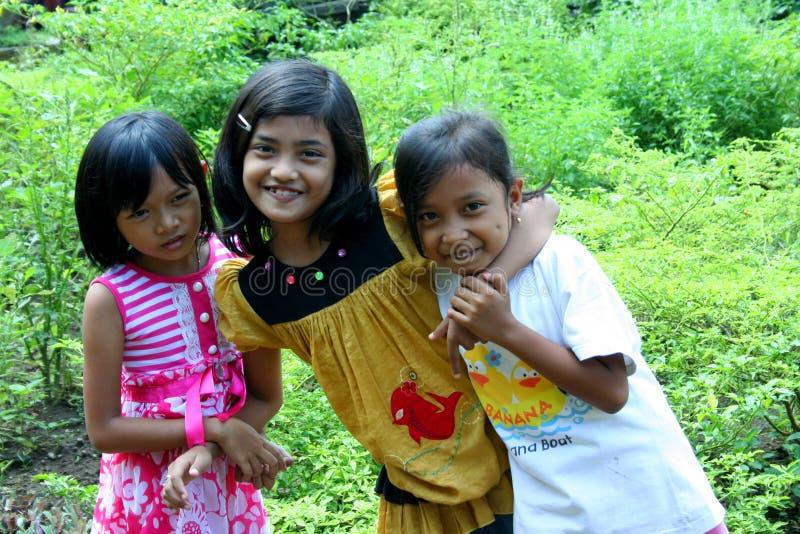 Crianças nas ruas, East Java, Indonésia imagens de stock royalty free
